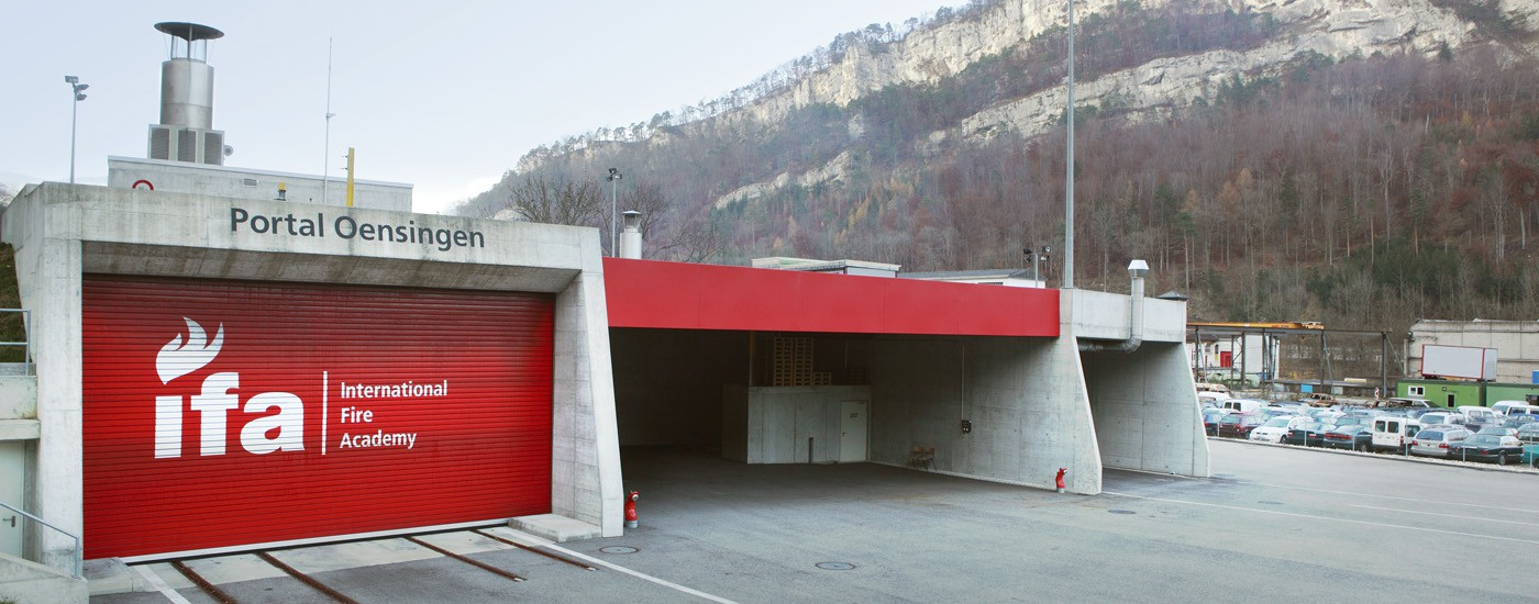 Portal Oensingen der Tunnel-Übungsanlage der International Fire Academy in Balsthal